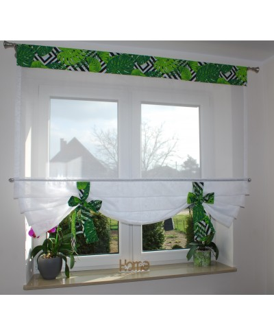 panel zielone-liscie-monstery