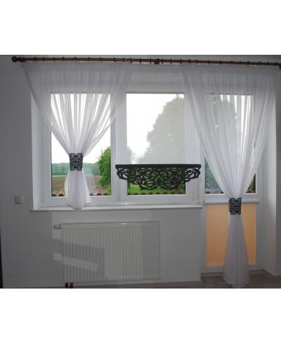 Firana na okno balkonowe z ażurem