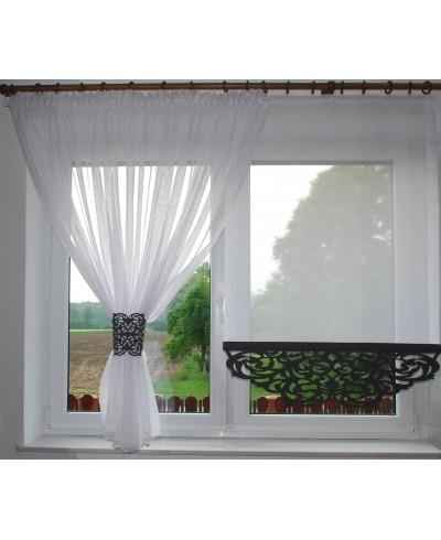 Panel firanka na okno z ażurem