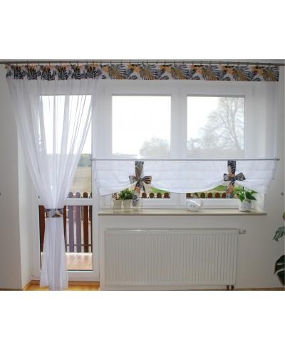 Komplet balkonowy liście monstery