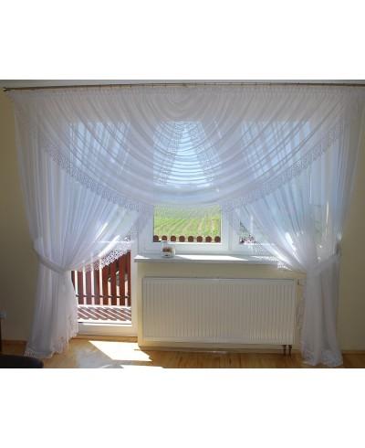 Firana na okno tarasowe z gipiurą 10 cm